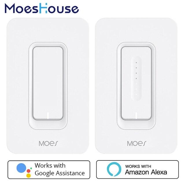 Interruptor de luz de pared inteligente WiFi de EE. UU. atenuador de Control remoto de la aplicación móvil No requiere Hub funciona con Amazon Alexa Google Home IFTTT