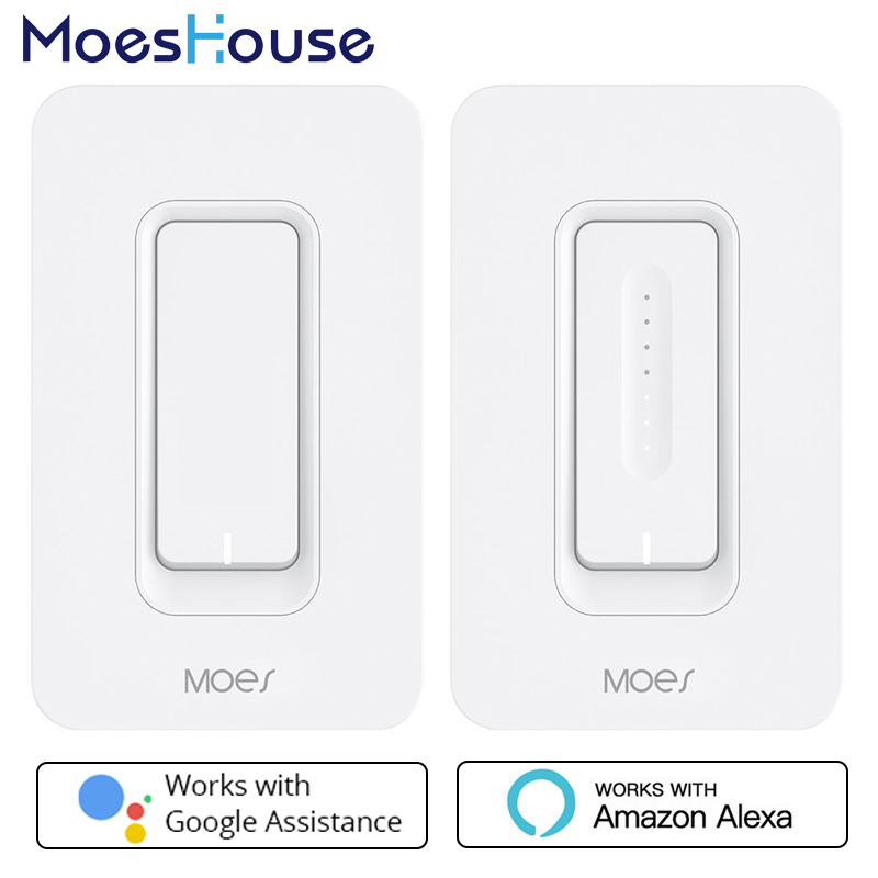 NOUS WiFi Smart Gradateur Murale Mobile APP À Distance contrôle Sans Hub Nécessaire Fonctionne avec Amazon Alexa Google Maison IFTTT