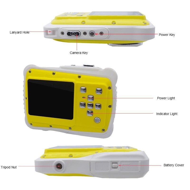 Enfants HD Étanche Anti-chute appareil photo numérique avec 2.0 Pouces écran lcd IJS998