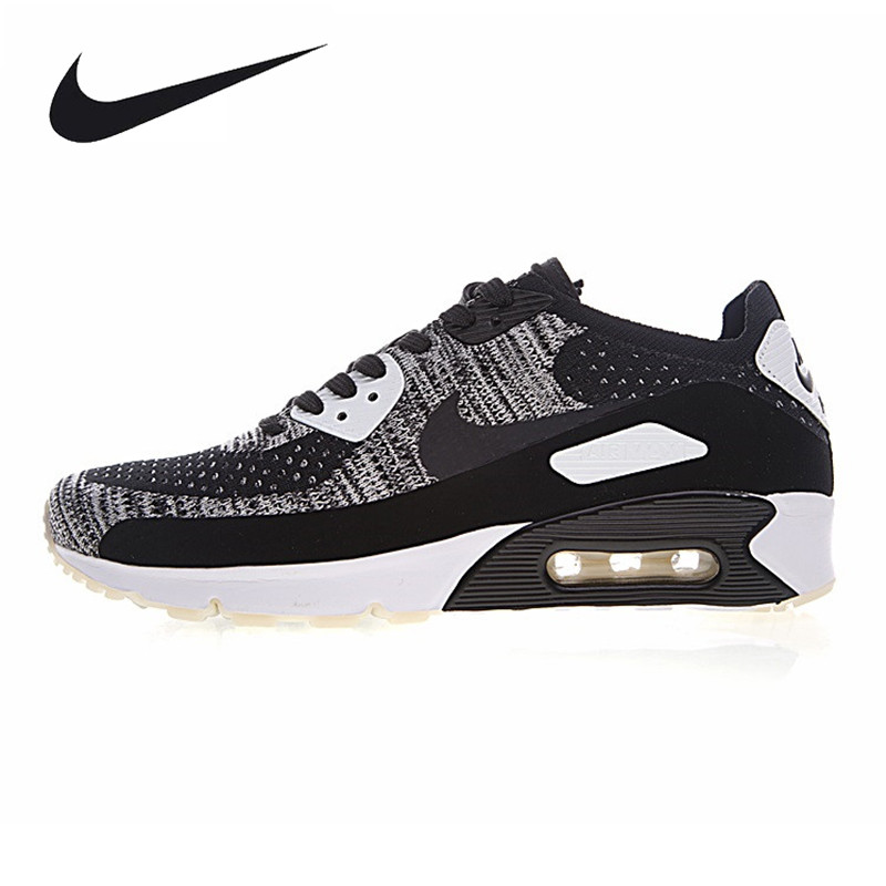 Nike Air Max 90 Ultra 2.0 Flyknit Men's Running Shoes, Army Green/Dark Grey, Breathable, Non-Slip 875943-001 875943-300 очки nike optics ignition dark magnet grey white max outdoor lens