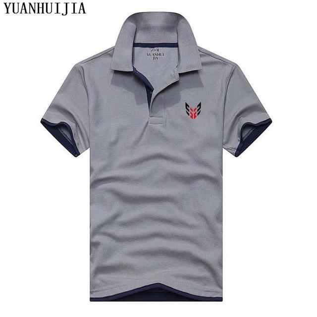 16cf23fa187 Новый летний Для мужчин воротник Мужские Поло рубашка Для мужчин Костюмы  одноцветное Для мужчин S Футболки