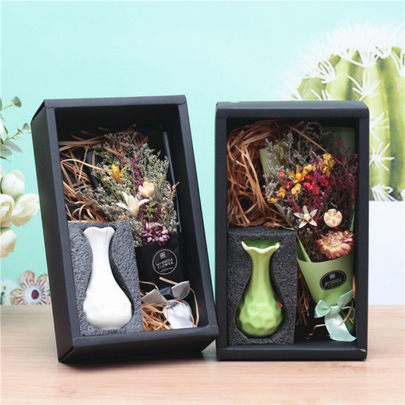 Colored Dried Flowers Vase Crystal Grass Bouquet Home Decoration Birthday Valentine 39 s Day mother 39 s day Gift Wedding Party Decor in Artificial amp Dried Flowers from Home amp Garden