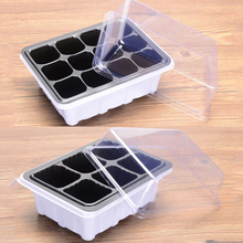 6/12 Plastic Nursery Pots Planting Seed Tray Kit Plant Germination Box with Dome and Base Garden Grow Box Gardening Supplies new