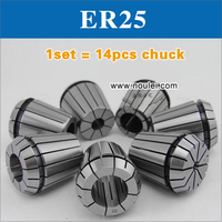 Top Quality ER25 Collet Chuck Set 1 2 5mm 14 Pcs From 1 Mm To 2