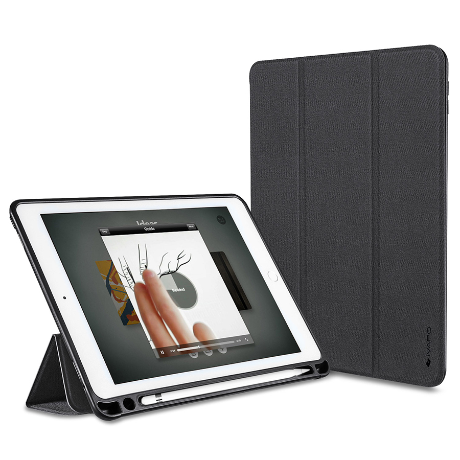 cheap for discount 09ce6 0e6fe US $23.99 |For Apple iPad Pro 9.7 PU Leather Case Slim Flip Folio Smart  Cover W Pencil Holder Auto Sleep/Wake For iPad Pro 9.7 A1673 A1674-in  Tablets ...