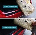 Amortecedor traseiro do carro scuff protetor placa tampa do peitoril tira de borracha para vw volkswagen polo lavida santana jetta bora golf 1 pc