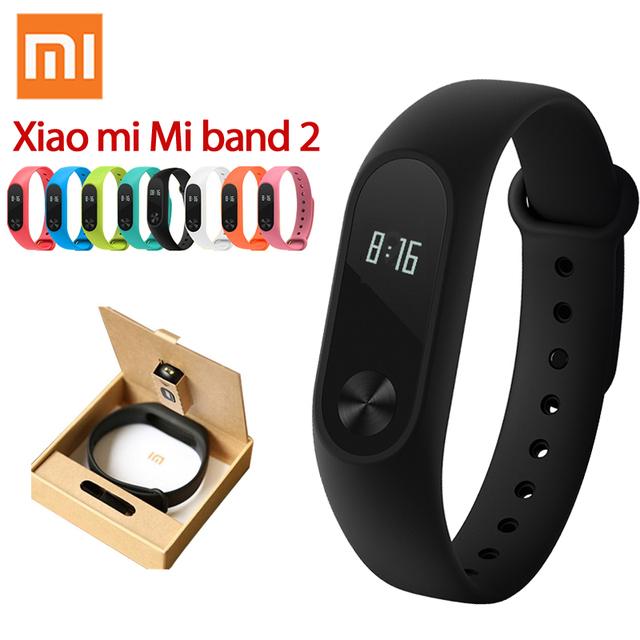 En stock original xiaomi mi banda 2 inteligente de ritmo cardíaco rastreador de fitness podómetro inteligente pulsera ip67 xiaomi miband 2 mi pulsera