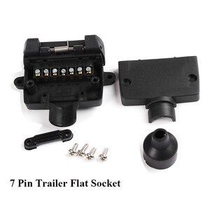 Image 5 - 12 V accesorios para el coche 7 Pin enchufe de remolque plano 7 way core pole camión g adaptador de remolque conector eléctrico conector
