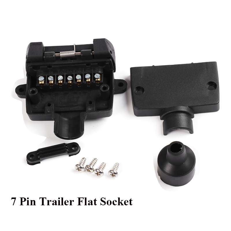 Image 5 - 12V Car Accessories 7 Pin Flat Trailer Socket  plug 7 way  core pole  truck  g adapter Towing Electrics Connector  Connector-in Cables, Adapters & Sockets from Automobiles & Motorcycles