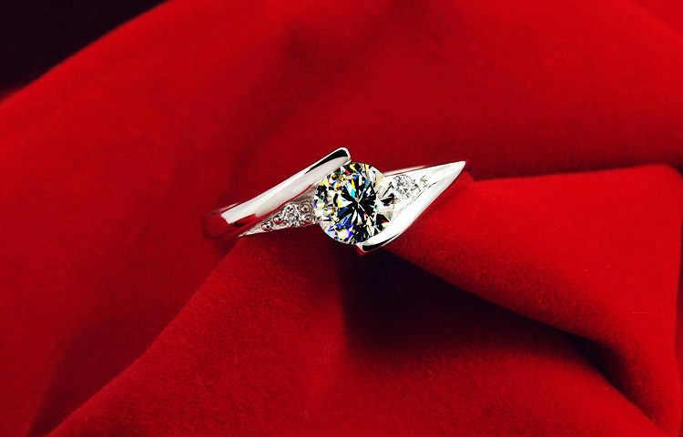 ... Uloveido женские кольца Любовь бижутерия серебряное обручальное кольцо  фианит Анель feminino подарок ко Дню Святого Валентина ... 2208d957fbf