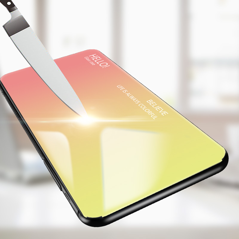 Image 3 - Gradient Tempered Glass Case For Xiaomi Mi 8 Lite 9 SE Mi 5X Pro Max 3 2 MIX 2 3S Redmi 7 6 5 Plus  6A Note 5 6 Pro Note 4 case-in Flip Cases from Cellphones & Telecommunications