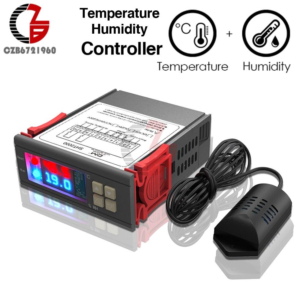 AC 110 v 220 v DC 12 v 10A Digitale Temperatur Feuchtigkeit Controller SHT2000 Hause Kühlschrank Thermostat Hygrostat Therometer Hygrometer