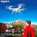 Syma x5sw explorador 2.4g helicóptero de controle remoto fpv zangão com câmera real-tempo de transmissão luz intermitente