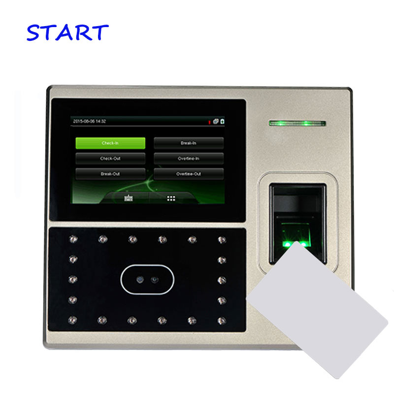 TCP/IP Biometric Uface800 Face & Fingerprint Time Attendance And Access Control Facial Recognition 13.56Mhz Time Recorder