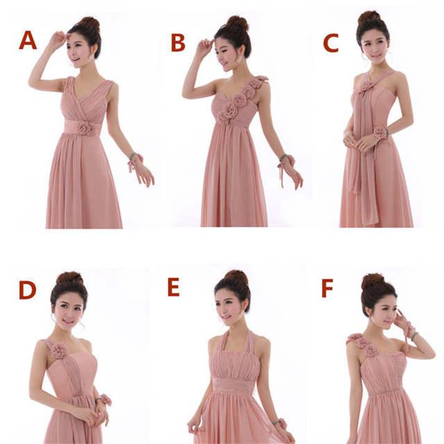 placeholder Dusty Rose Pink Dress Cheap Bridesmaid Dresses Long Chiffon  Strapless Beautiful Vestido De Festa Longo Party 1b744435866f