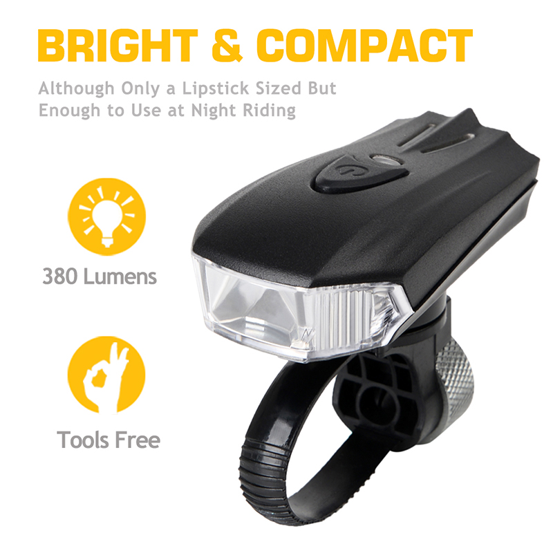 Bicycle Front Light Mtb Bike Light Usb 200 Lumens 4modes