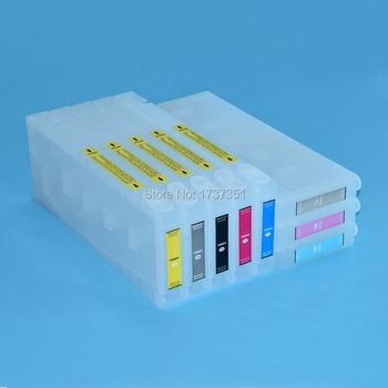 T5621 For Epson Stylus Pro 7800 refill ink cartridge and chip resetter 8 color 350ml for Epson T5621-T5627 T5629