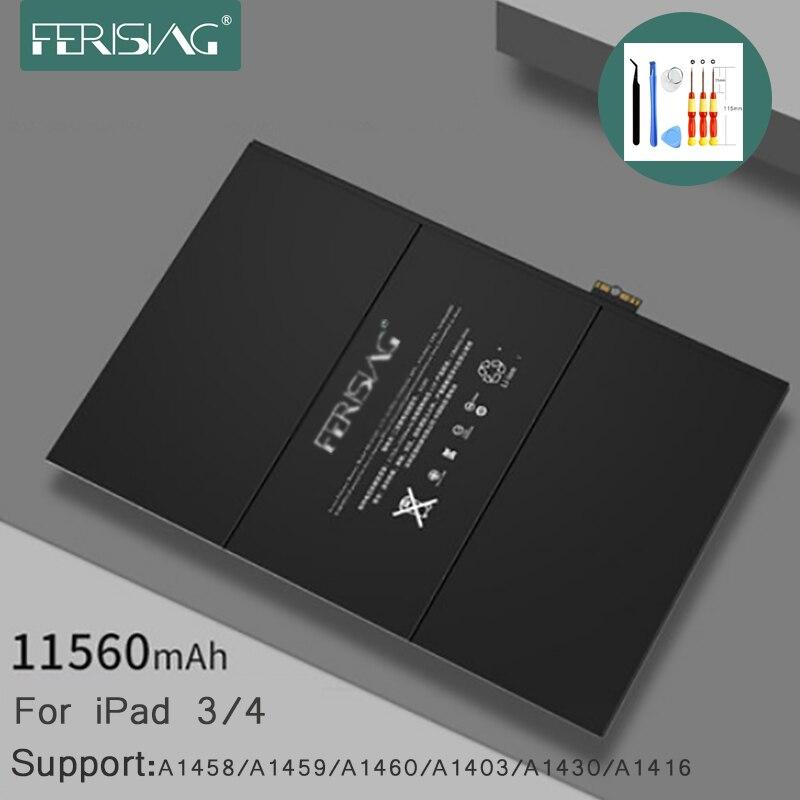 Battery For iPad3 A1416 A1430 A1403 ipad4 A1458 A1459 A1460 A1389 11560mAh