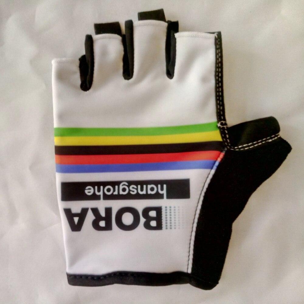 Prix pour 2017 BORA PRO ÉQUIPE PETER SAGAN UCI Cyclisme Vélo Gants Vélo Gel Finger Moitié Gants Une Paire Taille M-XL