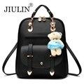 Jiulin marca 2016 mochilas mulheres mochila mochilas escolares estudantes pacote mochila sacos de viagem de couro das senhoras das mulheres