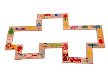 28pcs/set Baby Toys Wooden Animal dominoes Solitaire Dominoes Wooden Educational Blocks Baby Early Learning Toys