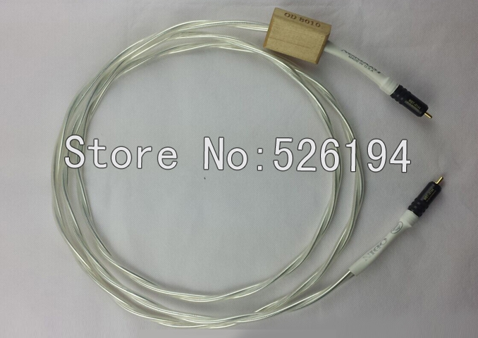 Free shipping Nordost Odin 75Ohm Digital Coaxial Cable with WBT-0144 RCA plugFree shipping Nordost Odin 75Ohm Digital Coaxial Cable with WBT-0144 RCA plug