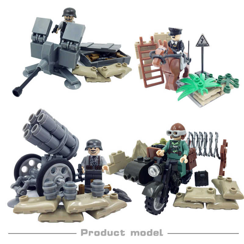 World War II Army West Droiyan Military Soldiers Toys For Children Boys Gifts Building Blocks Compatible LegoINGLys Bricks