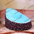 FRETE GRÁTIS assento de bebê com 2 pcs luz azul para cima da tampa do bebê assento do saco chairbean sofá beanbags saco de feijão do bebê assento do bebê