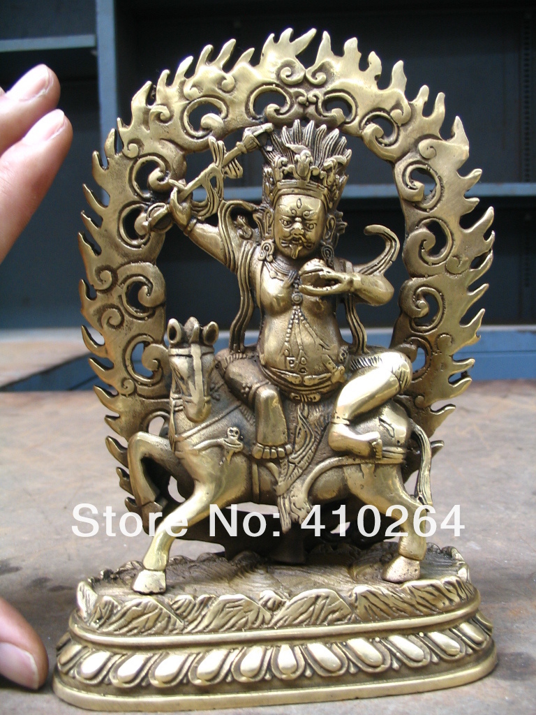 [Nice Discount ] 20cm good luck Buddha on horse Bronze Statue[Nice Discount ] 20cm good luck Buddha on horse Bronze Statue