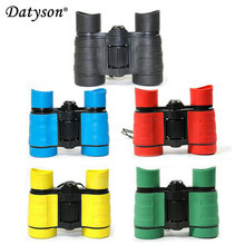 Discount! 5pcs/lot 4×30 Plastic Children Binoculars Pocket Telescope Maginification For Kids Outdoor Games Boys Toys Gift