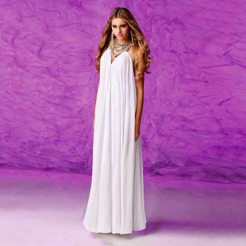 Unique Greek Goddess Designer Chiffon White Long Prom Dresses ...