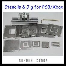 Лучшие продажи PS3 xbox реболлинга комплект с 10 шт. прямого нагрева реболлинга трафареты+ 1 шт. тепла непосредственно реболлинга станции джиг