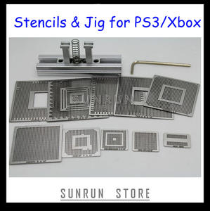 Best Selling PS3 XBOX Reballing Kit with 10PCS Direct Heating Reballing Stencils + 1PCS Heat Directly Reballing Station Jig