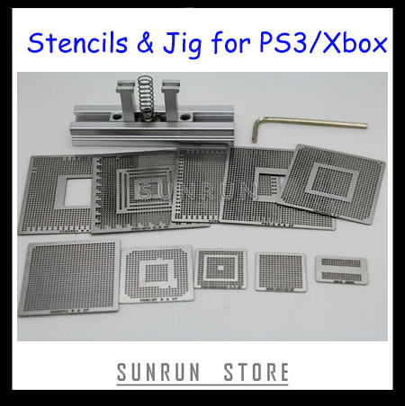 Лидер продаж, набор риболлинга для PS3 и XBOX, 10 шт., трафареты прямого нагрева + 1 шт., станция прямой резки тепла
