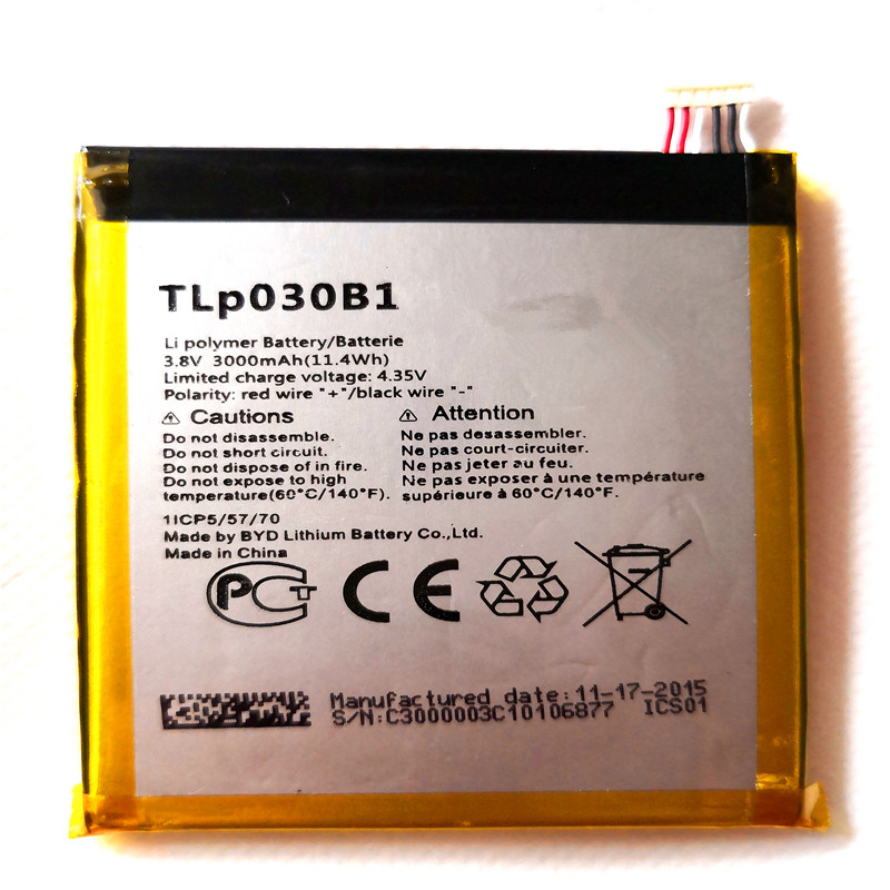 3000mAh TLp030B1 cell phone battery For Alcatel One Touch Pop S7 / <font><b>7045Y</b></font> / 7045D / 7045A / Flash 2 / 7049D with Tools for gift image