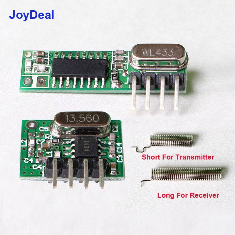 Kit récepteur et émetteur sans fil 433 Mhz avec antenne pour Arduino Uno, Kits de bricolage, commutateur de télécommande 433 mhz