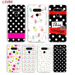 На Алиэкспресс купить чехол для смартфона matte silicone case polka dots fashion for lg k40 q8 q7 q6 v50(5g) v40 v35 v30 v20 g8 g7 g6 g5 thinq phone shell