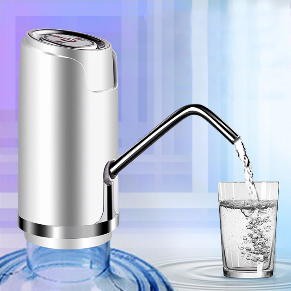 Wireless Electric Drinking Water Pump Universal Gallon Bottle Water Pump Dispenser Switch Stainless Steel Export Rechargeable auto electric gallon bottle drinking water pump dispenser w switch wireless new s08 drop ship
