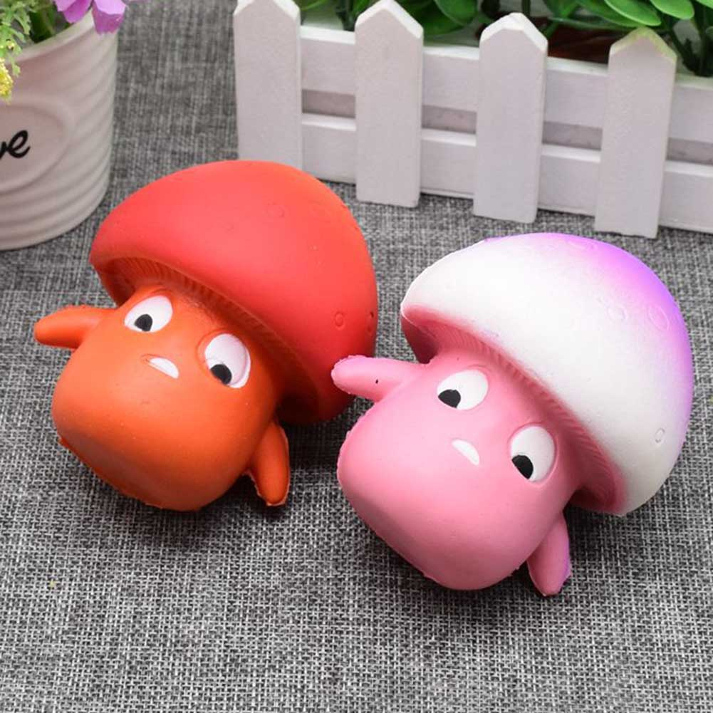 Mini Cute Mushroom Phone Straps Accessories Slow Rising Relieve Anti Stress Reduce Autism Toys For Kids