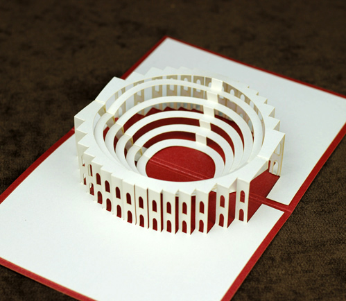 he ancient rome arena colosseum model paper diy paper arts and