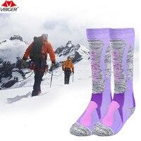 Runacc утолщенный лыжные Носки для девочек Теплые Открытый хлопка Носки катания на лыжах удобные сноуборд Носки для девочек подходит для Лыжн...
