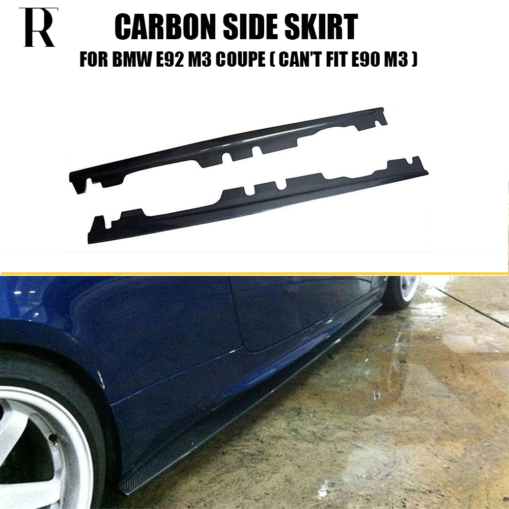 M3 Carbon Fiber Side Bumper Skirt for BMW E92 M3 Coupe ( cant fit E90 ) 2008 - 2012 Auto Racing Car Styling Side Skirts Bodykit