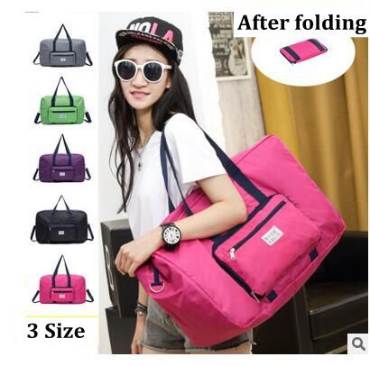 2016 Brand Foldable shoulder bags waterproof women travel bags MenTravel luggage bags large capacity Nylon bags Travel Tote