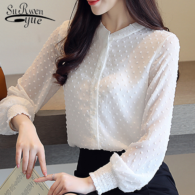 fashion woman   blouses   2019 spring long sleeve women   shirts   white   blouse   tops office work wear women   blouse     shirt   blusas 0974 60