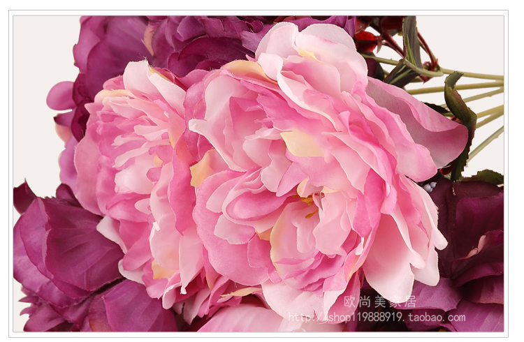 Romantische bloem simulatie pak decoratie bloemen tafel instelling