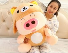 about 100cm relax bear design Mcdull pig plush toy soft hugging pillow toy,birthday present Xmas gift c945
