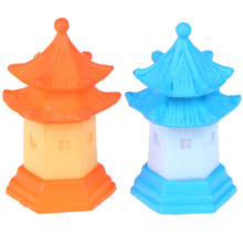 2Pcs DIY Tower Fairy Garden Miniatures Figurines For Home Decoration Resin Crafts dollhouse accessories(China)
