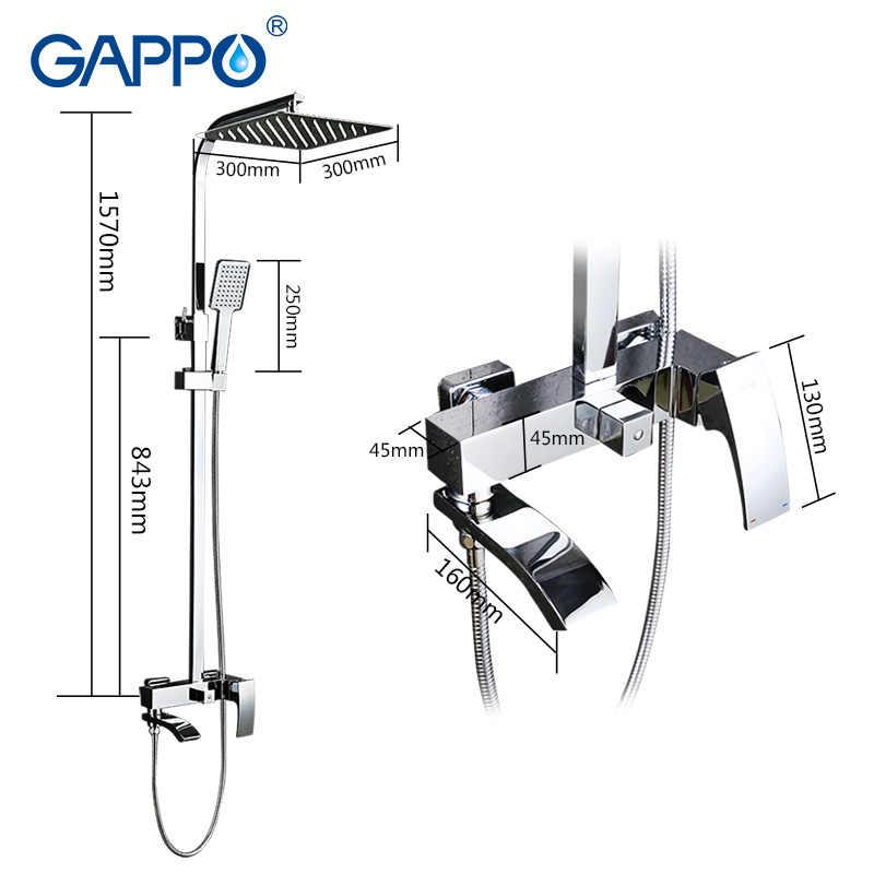 GAPPO prysznic kran prysznic mixer tap Chrome wanna prysznic miksery opady deszczu wanna krany wodospad uchwyt ścienny do łazienki prysznic bateria wannowa