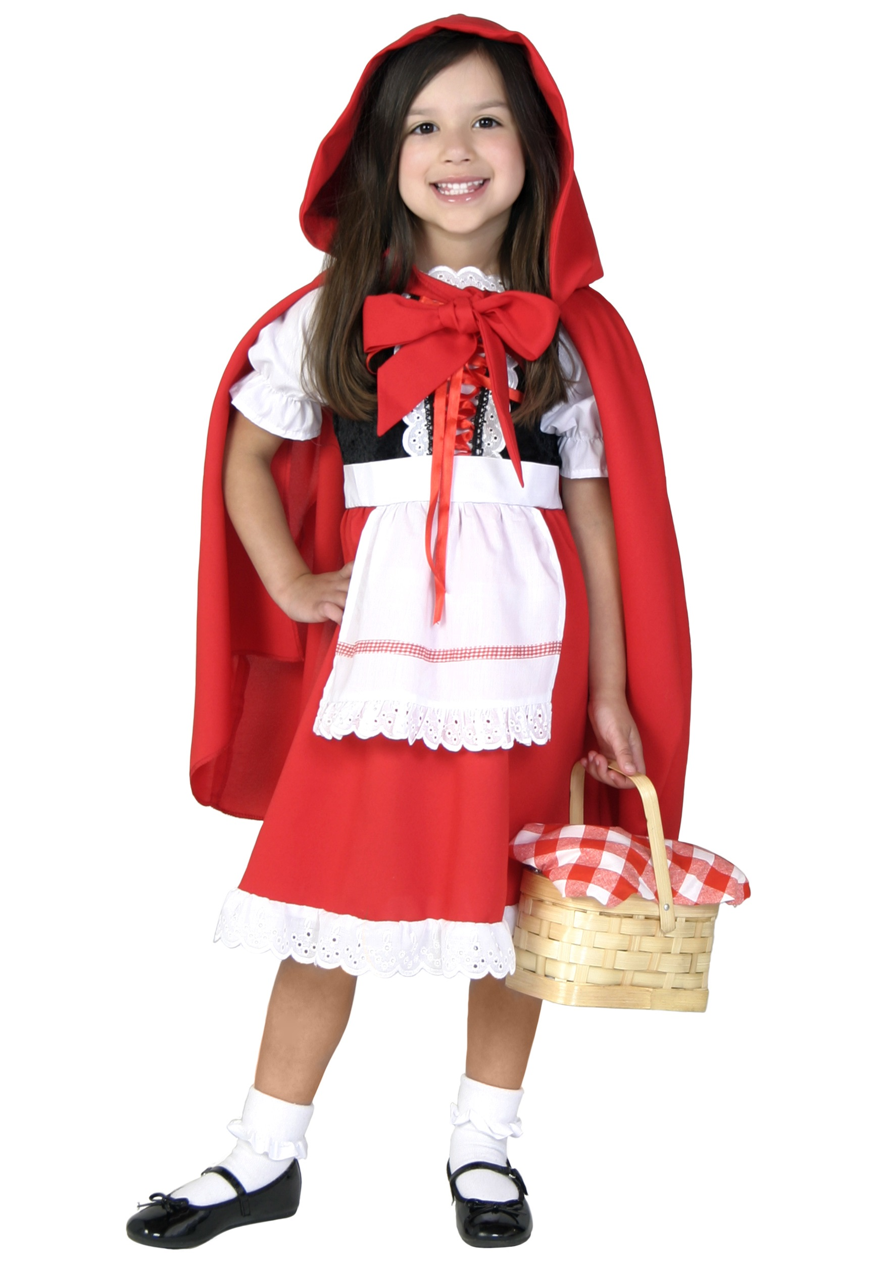 Cute Little Red Riding Hood Costume Girl Kids Halloween Cosplay Costumes Childrens Princess -1571