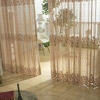 Florals Drapery Curtain Translucidus Voile For Bedroom Sitting Room Bird Nest Mesh Fabric Curtains